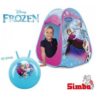 Namiot Frozen z piłką do skakania - Ogrodowy zestaw Disney Kraina Lodu
