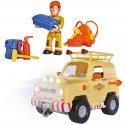 Simba Strażak Sam Jeep Ratunkowy Toms 4x4 Figurka Sam reflektory
