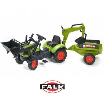 CLAAS Arion Traktor zielony zestaw z przyczepą ŁYŻKA FALK + Ładowarka