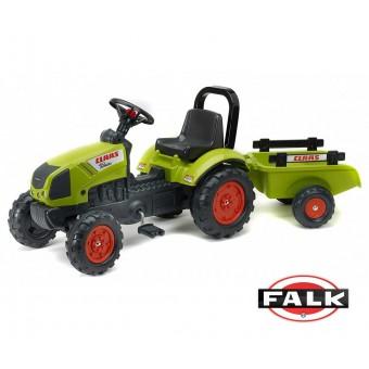 Claas Arian 410 Traktor na pedały z przyczepą FALK