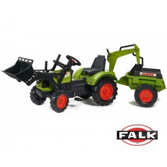 Traktor Claas na pedały przyczepa łyżka koparka FALK