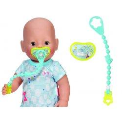 Baby Born Smoczek z Przypinka dla lalki 43 cm Niebieski