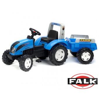 Landini Traktor Niebieski z Przyczepą na pedały FALK