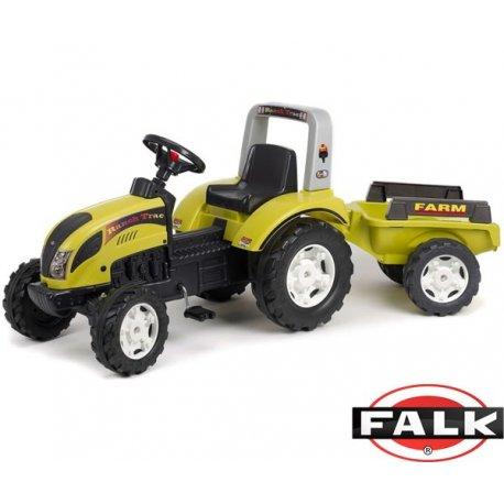 FALK Traktor Ranch Trac Zielony z przyczepką