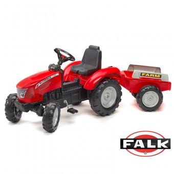 FALK Traktor na pedały McCormick z przyczepą