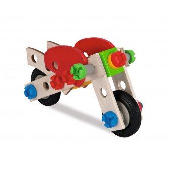 Klocki dla dzieci drewniane Konstrukcyjne 40 elem. Samolot Heros motor
