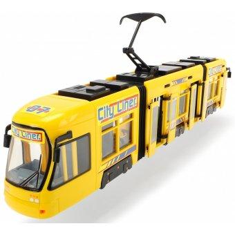 Tramwaj City żółty pojazd Dickie 46 cm