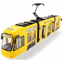 Tramwaj City żółty zielony pojazd Dickie 46 cm