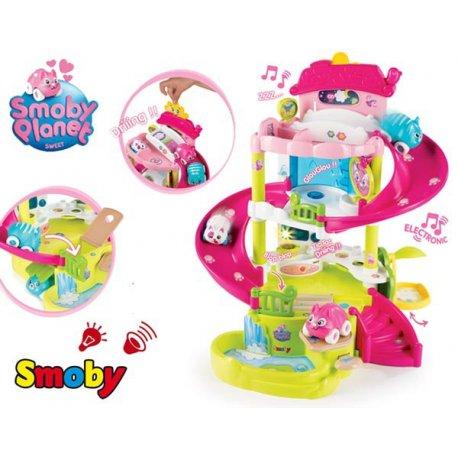 SMOBY Sweet Planet Magiczny Pałac Zamek Willa Domek Światło Dźwięk + 3 Figurki