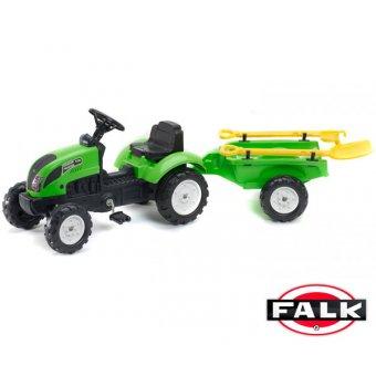 Falk Traktor na pedały Garden Master z przyczepką + akcesoria