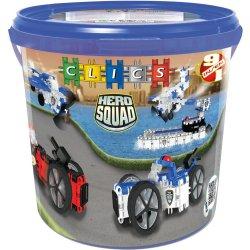 CLICS Klocki 284 elementy Polcja Hero Police Drum