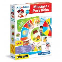 Miesiące i pory roku Edukacyjna gra dla dzieci Clementoni