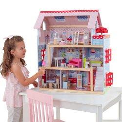 Kidkraft drewniany Domek dla lalek Duży mebelki