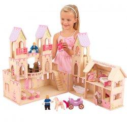 KidKraft Zamek Księżniczki pałac Domek dla lalek z figurkami