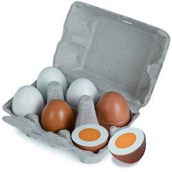 Drewniane jajka w foremce na magnes Eichhorn