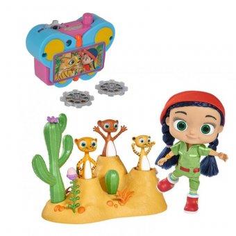 Simba Wissper Świat Pustyni Lalka z 3 figurkami Surykatki REKLAMA TV + Aparat fotograficzny z obrazkami Wissper