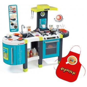 Smoby Kuchnia Elektroniczna grill express do kawy miniTefal French Touch + Fartuch GRATIS