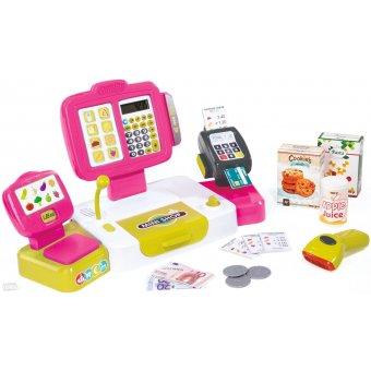 Elektroniczna Kasa Fiskalna dla dzieci Smoby Różowa z kalkulatorem