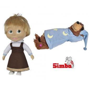 Simba Miękka Lalka Śpiewająca Masza i Niedźwiedź język polski + Chrapiący Niedźwiedź Misza 40 cm