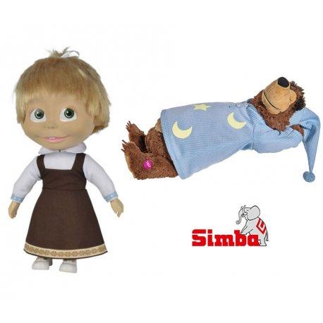 Simba Miękka Lalka Śpiewająca Masza i Niedźwiedź
