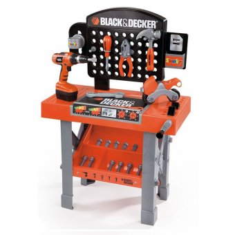 Smoby Warsztat SuperCenter Black&Decker 15 akcesoriów