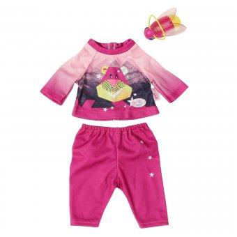 Zestaw ubranek na nocną wyprawę dla lalki Baby Born 43 cm w kolorze różowym + latarka