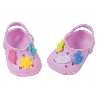Buciki z przypinkami dla lalki Baby Born 43 cm Crocs w kolorze fioletowym