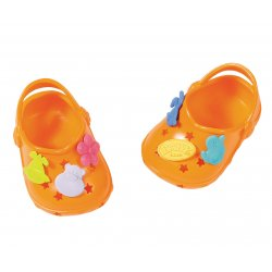 Buciki z przypinkami dla lalki Baby Born 43 cm Crocs w kolorze różowym
