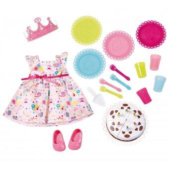 Zestaw urodzinowy z sukienką dla lalki Baby Born 43 cm