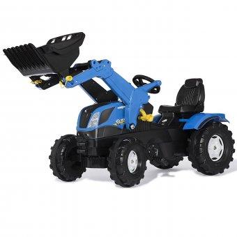 New Holland traktor na pedały z łyżką i cichymi kołami Rolly Toys rollyFarmtrac