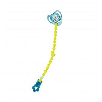 Smoczek z przypinką dla lalki Baby Born 43 cm w kolorze niebieskim