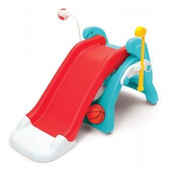 Fisher Price 6w1 plac zabaw dla dzieci zjeżdżalnia koszykówka + Bramka piłkarska z piłką i pompką Gratis!