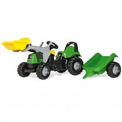 Traktor Rolly Toys Deutz-Fahr Kid z przyczepką