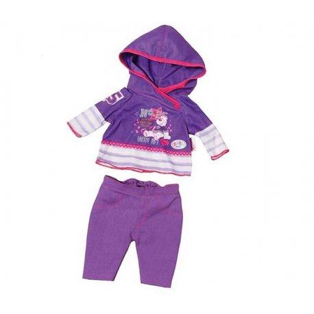 Baby Born Ubranko Casual dla lalki 43 cm Fioletowe na wieszaczku
