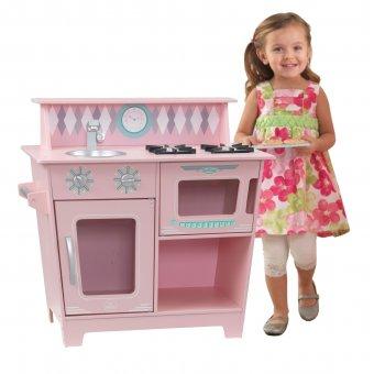 KidKraft Drewniana Kuchnia Klasyczna w kolorze różowym