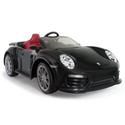 INJUSA Samochód elektryczny Porsche 911 Turbo S Special Edition Black 12V