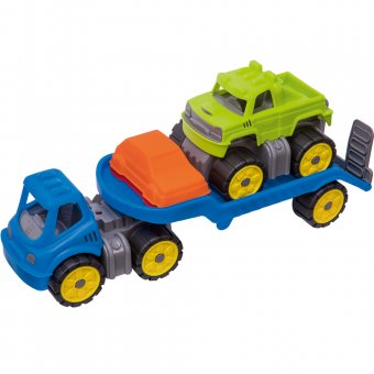 BIG Laweta z Monster Truckiem Mini Power Worker