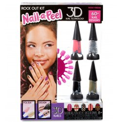 Nail-a-Peel zestaw 3D tematyczny do paznokci Rock Out manicure