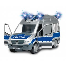 Dickie Samochody SOS Samochód Policyjny Radiowóz Światło Dźwięk