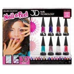 Nail-a-Peel zestaw 3D Deluxe lakiery do paznokci