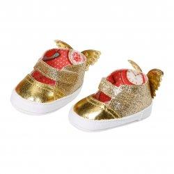 Buciki dla lalki Baby Annabell w kolorze złotym