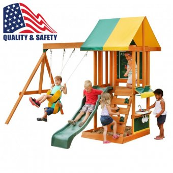 Drewniany wielofunkcyjny Plac zabaw Kidkraft 7 w 1 Słoneczne Bistro
