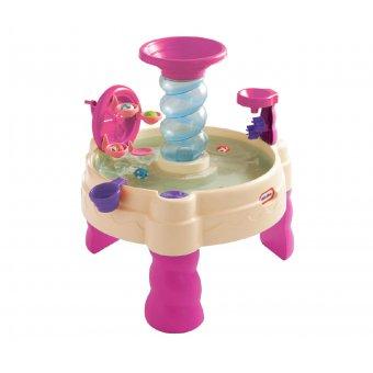 Little Tikes wodny stół Piaskownica różowa Spiralna Fontanna