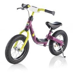 Rowerek biegowy Run Air Girl pompowane koła Kettler Runbike Fioletowo Limonkowy