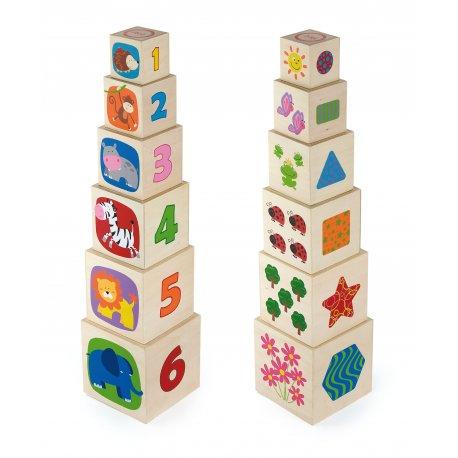 Klocki piramida edukacyjna Viga Toys