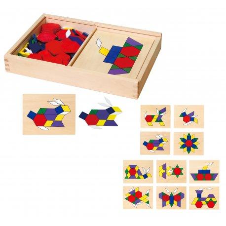 Mozaika geometryczna Viga Toys układanka Puzzle 158 elem.