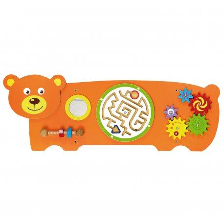 Sensoryczna tablica manipulacyjna Miś drewniana Viga Toys