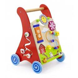 Chodzik panel edukacyjny Drewniany czerwony Viga Toys