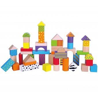Drewniane klocki Viga Toys Colorful 50 elementów