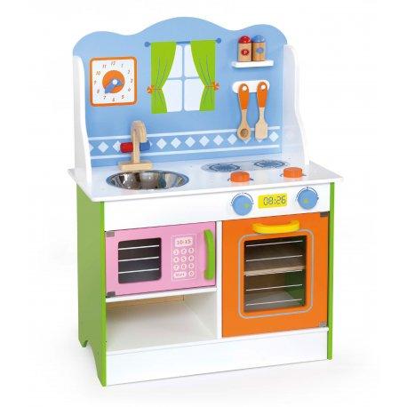Kuchnia drewniana Angel kran Mikrofalówka Viga Toys
